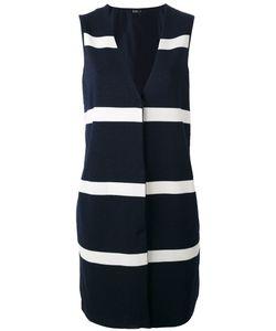Herno | Stripe Panel Sleeveless Jacket Size 46