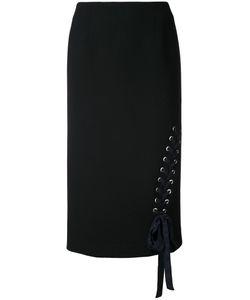 Le Ciel Bleu | Lace-Up Pencil Skirt 36 Acetate/Polyester