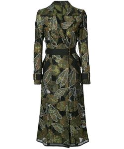 Yigal Azrouel | Leaf Embroidered Trench Coat