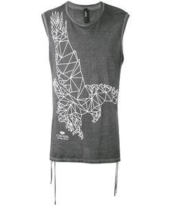 Tom Rebl | Eagle Print Sleeveless T-Shirt Size Medium