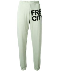 Free City   Logo Print Track Pants Medium