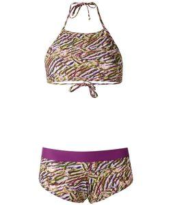Amir Slama   Printed Bikini Set G Elastodiene