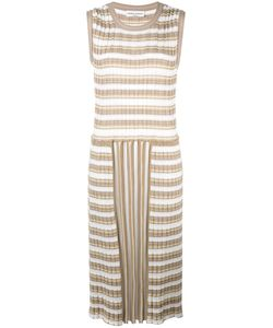 Sonia Rykiel | Pleated Striped Dress Medium