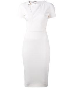 Victoria Beckham   Fitted Shoulder Buckle Dress