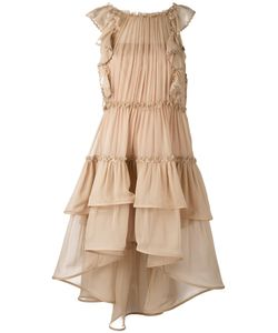 Alberta Ferretti | Sleeveless Tiered Ruffle Dress Size 40