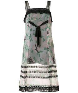 Coach   Printed Lace Trim Dress Size 0