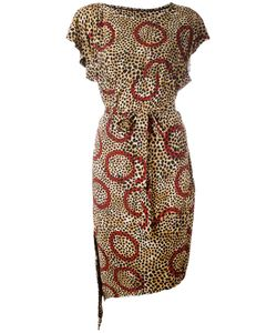 Vivienne Westwood Anglomania | Leopard Print Belted Dress Size Small