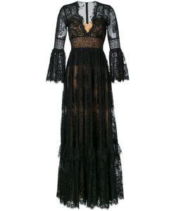 Zuhair Murad   V-Neck Lace Gown 40