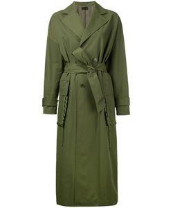 G.V.G.V. | G.V.G.V. Lace Stitch Pocket Belted Coat Women