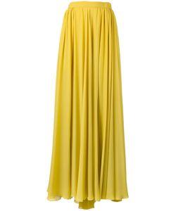 Elie Saab | Pleated Slit Maxi Skirt Size