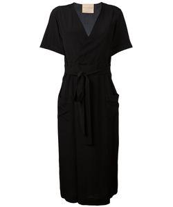 Erika Cavallini | Crossed Neck Belted Dress Size