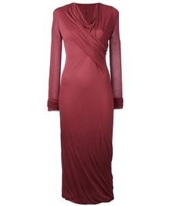 Rick Owens Lilies | Draped Midi Dress Size 38