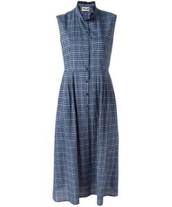 Hache | High Neck Checked Dress 46
