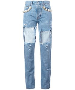 Forte Couture | Cut-Out Jeans 25
