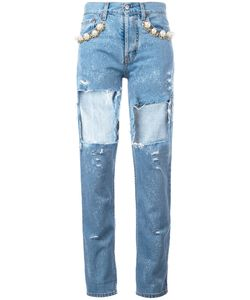 Forte Couture | Cut-Out Jeans Size