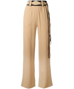 Veronique Leroy | Scallop Belted Trousers Women