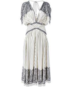 Etro | Stripe And Paisley Midi Dress Women