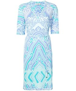 Leonard | Printed V-Neck Dress 40