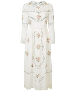 Vilshenko   Embroidered Midi Dress Size 10