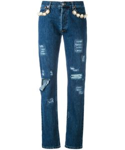 Forte Couture   Embellished Distressed Jeans