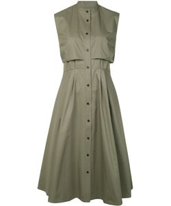 Tome | Pleated Detailing Buttoned Dress