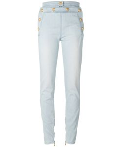 Balmain | Decorative Button Skinny Jeans Size 36