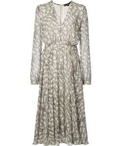 Derek Lam | Printed V-Neck Dress Size 46