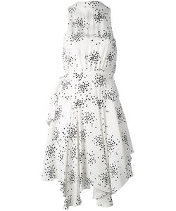 C/Meo | Dot Print Plunge Dress
