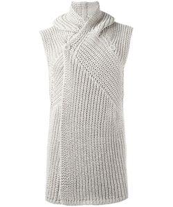 Rick Owens | Hooded Sleeveless Cardigan Size Medium