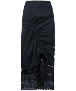 Preen by Thornton Bregazzi | Lace Trim Drawstring Skirt Small