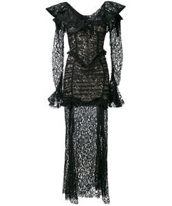 Alessandra Rich | Long-Sleeved Lace Gown