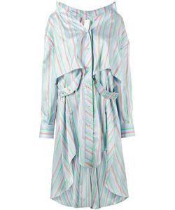 Esteban Cortazar | Stripe Asymmetric Shirt Dress Size 34