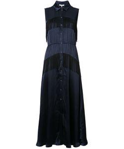 Ganni | Fringed Midi Shirt Dress Women