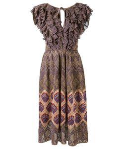 Gig | Ruffled Knit Dress P Lurex/Polyamide/Viscose