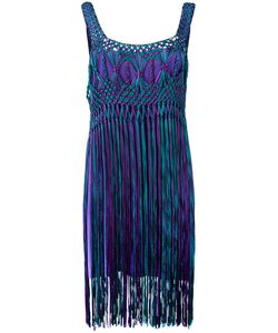 Alberta Ferretti | Tassel Dress Size 44