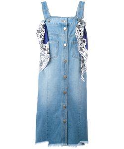 Steve J & Yoni P | Scarf Detail Denim Dress Size