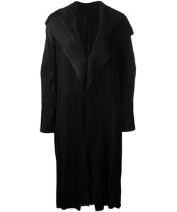 Pleats Please By Issey Miyake | Draped Front Pleated Coat Size
