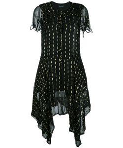 Zadig & Voltaire | Flared Asymmetric Dress Size Medium Cotton/Viscose/