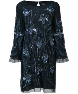 Marchesa Notte | Sequin Embroidered Dress Size 4