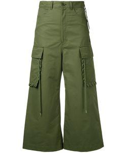 G.V.G.V. | G.V.G.V. Shoe Lace Stitch Cargo Pant Culottes Women