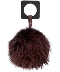 Perrin Paris | Fur Detail Clutch Bag Women Fox