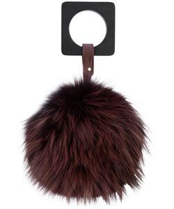 Perrin Paris | Fur Detail Clutch Bag Women Fox