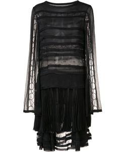 Jason Wu | Sheer Panelled Pleated Dress