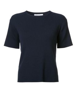 Ryan Roche | Ribbed T-Shirt Small Polyester/Cashmere