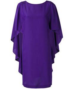 Alberta Ferretti   Ruffled Sleeves Shift Dress