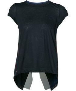 Sacai | Pinstripe Cross Back T-Shirt