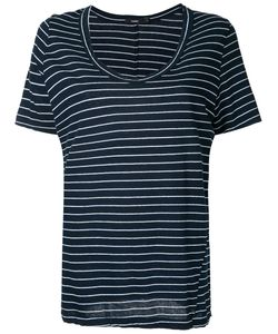 Bassike | Striped Scoop Neck T-Shirt