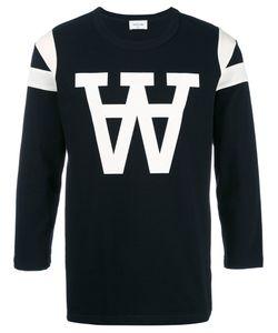 Wood Wood | W Print Sweatshirt Medium Cotton