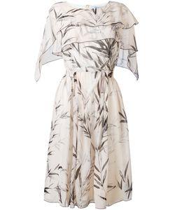 Blumarine   Leaf Print Midi Dress Size 46