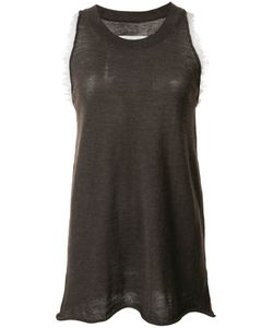 Uma Wang | Frayed Detail Tank Medium Cashmere